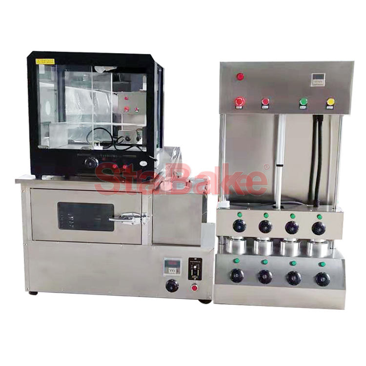 Commercial Cone Pizza Making Forming Machine with Oven