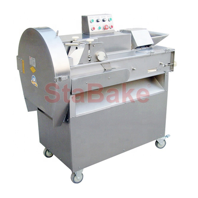 Full SS304 Commercial Vegetable Cutting Chopping Machine Multifunctional Potato Onion Dicer for Sale